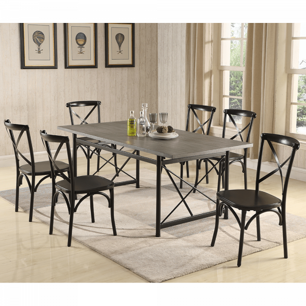 Antique Grey Dining Table Sets