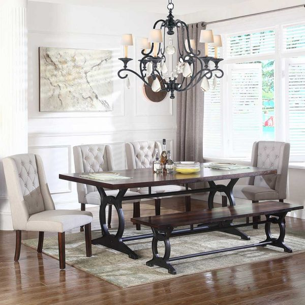 1777D DT Dining table set Cherry