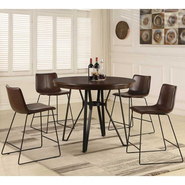 Bar Height Pub Sets with PU Leather Side Chair