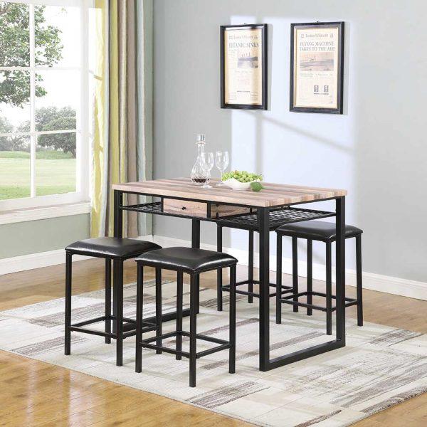 Rustic Brown Pub Table Sets
