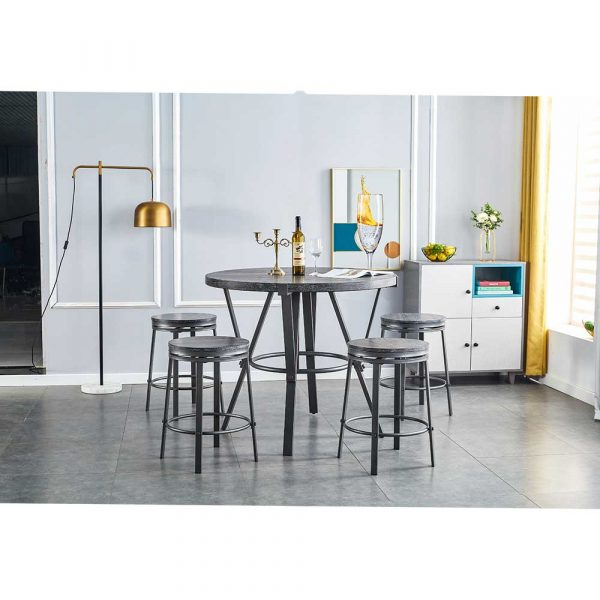Counter Height Pub Table Sets with Swivel Stool