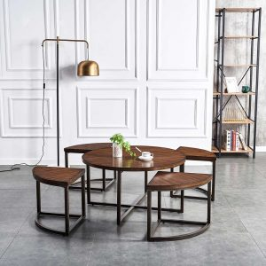 Round Vintage Coffee Table Sets