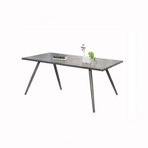 Nailhead Rectangle Industrial Dining Table
