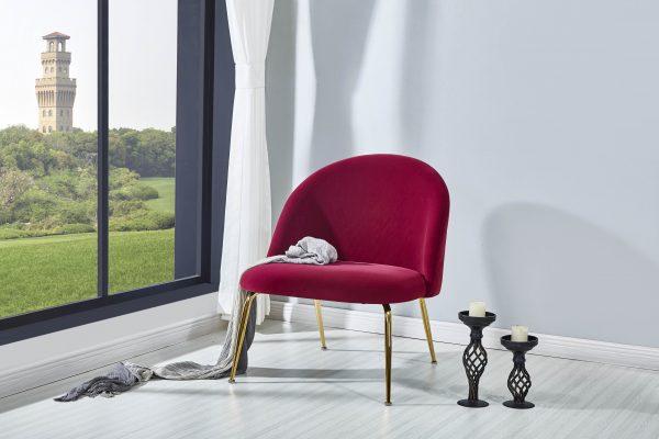 Uphostered Velvet Leisure Chair