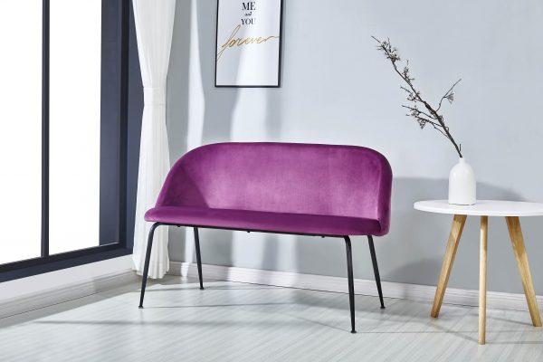 Uphostered Velvet Love Chair