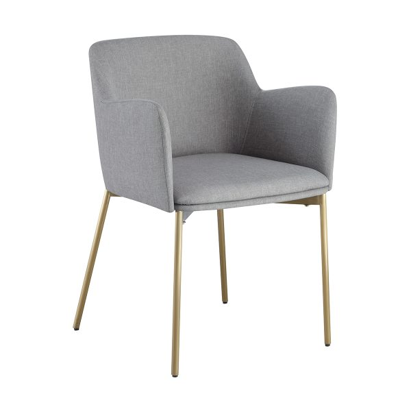 Grey Nordic Uphostered Arm Chair