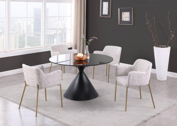 Minimalist Round Marble Dining Room Sets