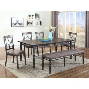 Dark Walnut Dining Table Sets