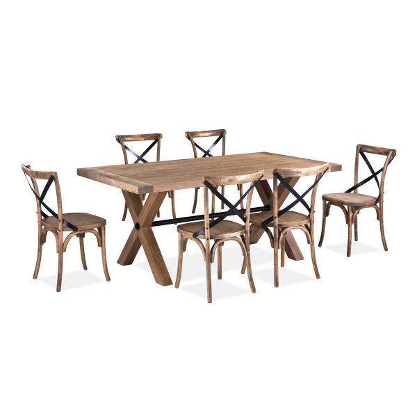 519D Wood table set 1